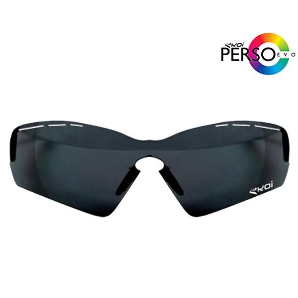 Schwarze, verspiegelte Sonnengläser Ekoi PersoEvo