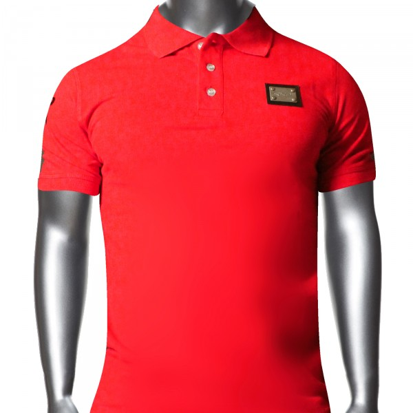 EKOI 2014 men's RED short sleeve polo