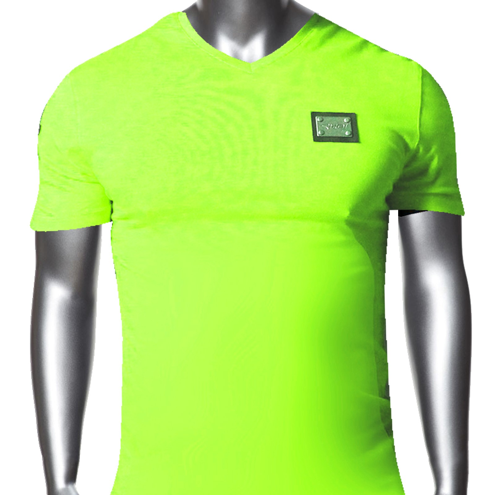 tshirt ekoi 2014 col v fluo vert ekoi. Black Bedroom Furniture Sets. Home Design Ideas