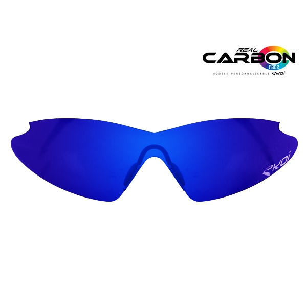 Lente da sole revo blu EKOI REAL CARBON RACE
