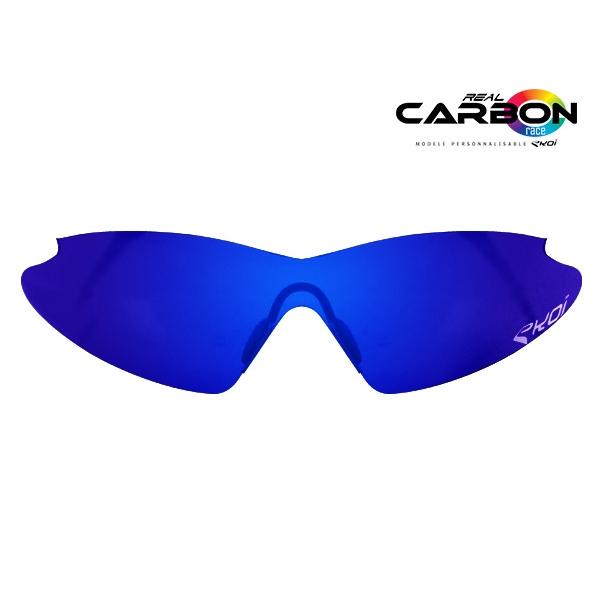 Sininen Revo EKOI REAL CARBON RACE -aurinkolinssi