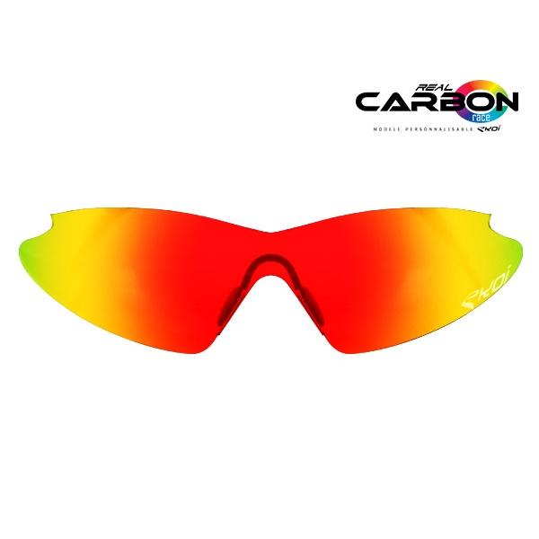Solbrilleglas revo rød EKOI REAL CARBON RACE