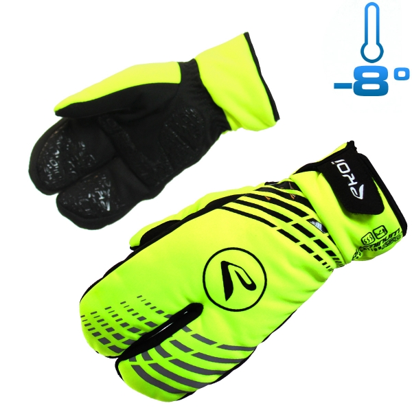 WINTER GLOVES EKOI G5 3 FINGERS 2016 NEON YELLOW