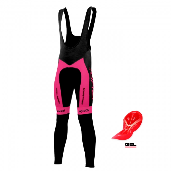 BIB TIGHTS EKOI COMPETITION7 GEL NEON PINK