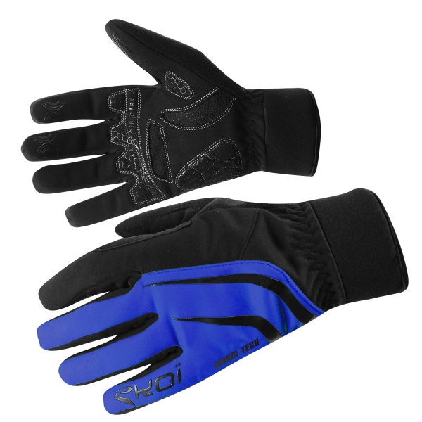 EKOI WARMTECH BLUE Winter cycling gloves