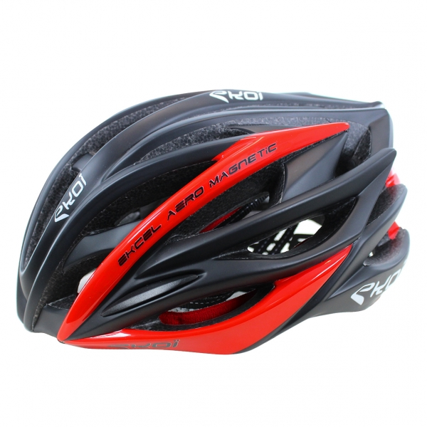 HELMET EKOI EKCEL MAGNETIC EVO2 BLACK MATT/RED