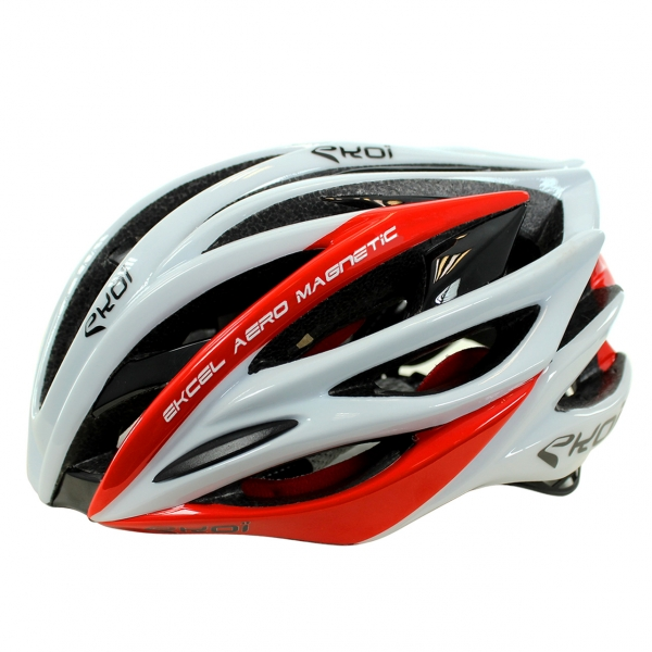 HELMET EKOI EKCEL MAGNETIC EVO2 WHITE/RED