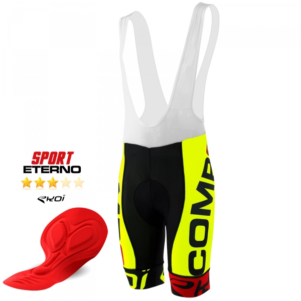 BIBSHORTS EKOI COMP8 ETERNO MAN 2016 NEON YELLOW