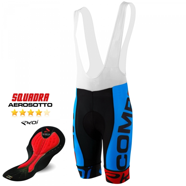 BIBSHORTS EKOI COMP8 AEROSOTTO 2016 BLUE