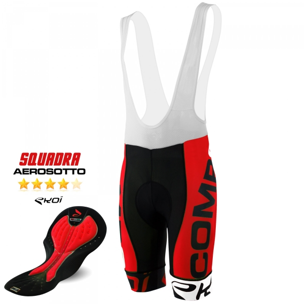 BIBSHORTS EKOI COMP8 AEROSOTTO 2016 RED