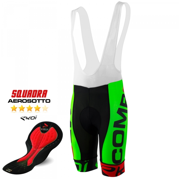 BIBSHORTS EKOI COMP8 AEROSOTTO 2016 NEON GREEN