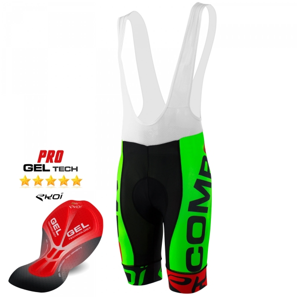 BIBSHORTS EKOI COMP8 GEL 2016 NEON GREEN