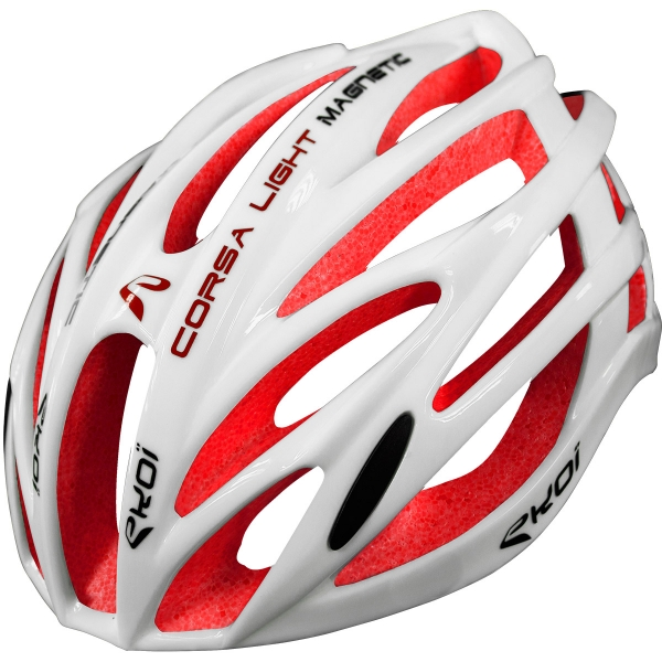 EKOI CORSA LIGHT WHITE & RED HELMET