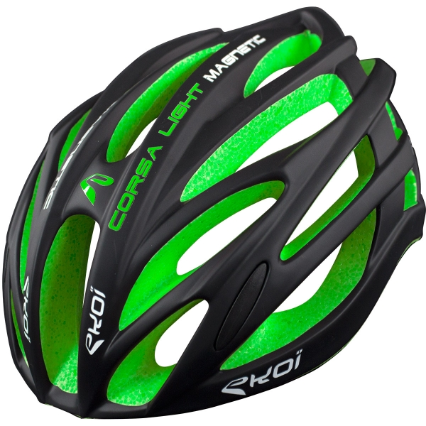 EKOI CORSA LIGHT Helm Zwart Groen