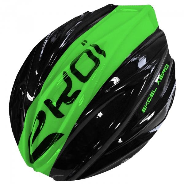 Vihreä-musta EKCEL EVO2 -kypärän irrotettava kuori