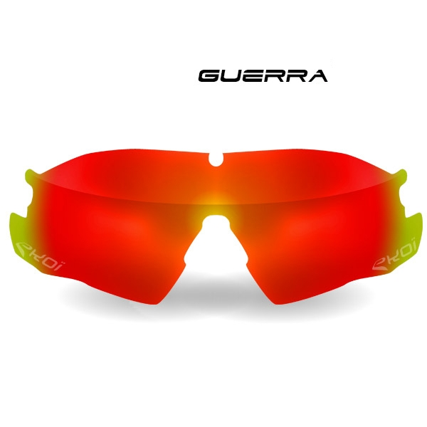 Verre GUERRA Revo rouge Cat-3