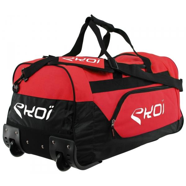 Sportovní taška na kolečkách EKOI, červená