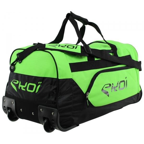 EKOI Green Fluo Wheeled Sports Bag