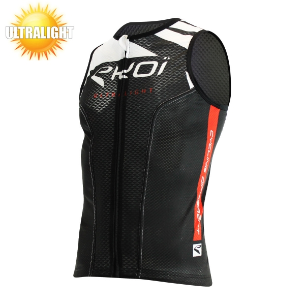 EKOI ULTRALIGHT 2 black sleeve less cycling jersey