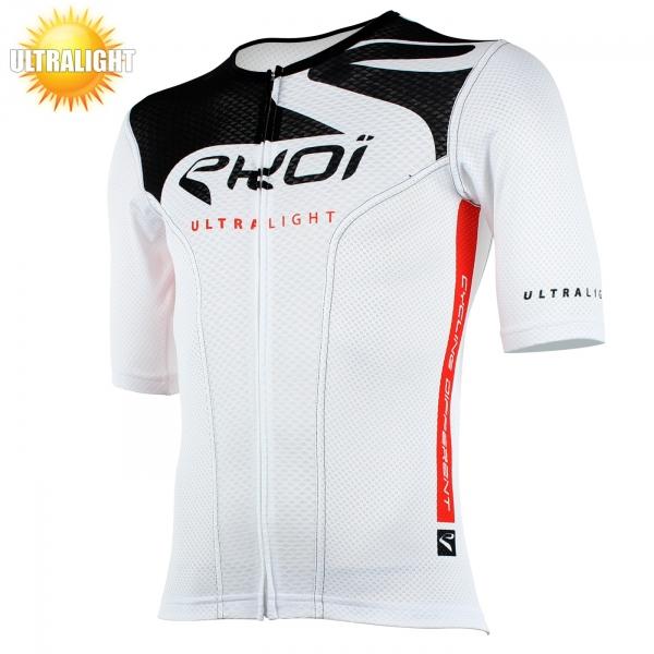 Maillot vélo manches courtes EKOI ULTRALIGHT New Style blanc noir