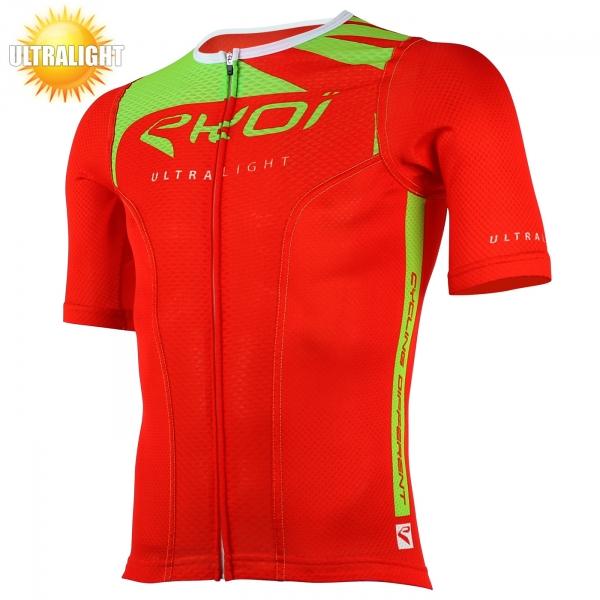 Cyklistický trikot s krátkými rukávy EKOI ULTRALIGHT MC New Style, červená