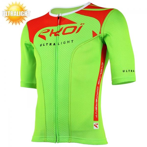 Maillot vélo manches courtes EKOI ULTRALIGHT New Style vert