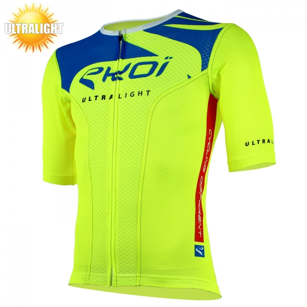 Maillot vélo manches courtes EKOI ULTRALIGHT New Style jaune