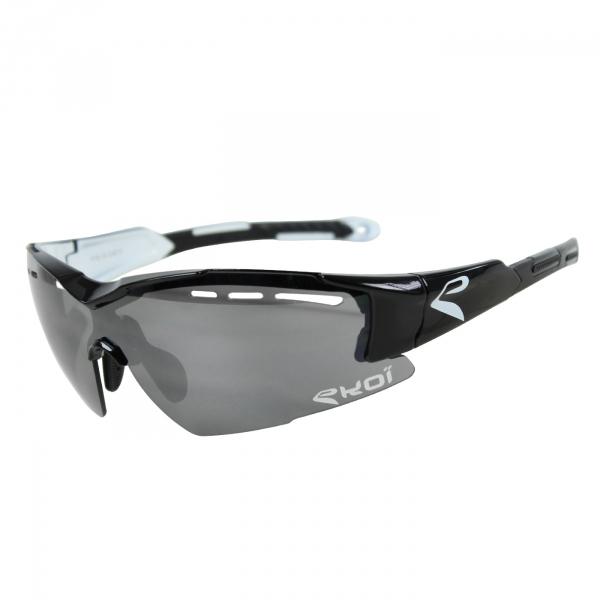 Brille EKOI F16 Schwarz Weiß Verspiegelt