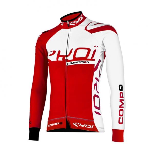 Zimní trikot EKOI Competition9, červená