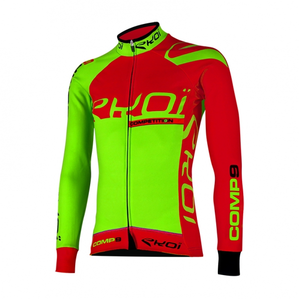 EKOI Competition9 neon green LS winter jersey