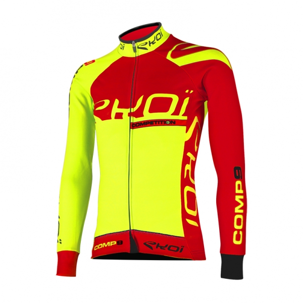 EKOI Competition9 neon yellow LS winter jersey