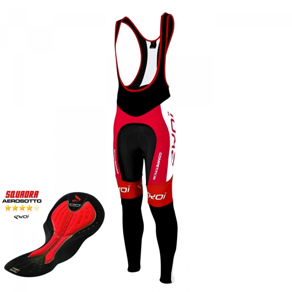 Bib tights EKOI Competition9 Aerosoto Red