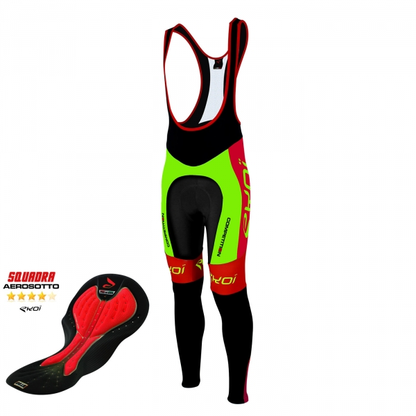 Culotte bike largo EKOI Competition9 Aerosoto verde fluo