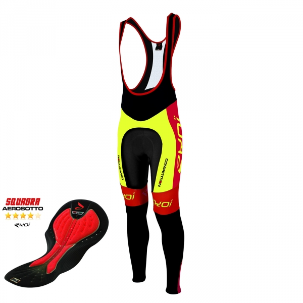 Culotte bike largo EKOI Competition9 Aerosoto amarillo fluo