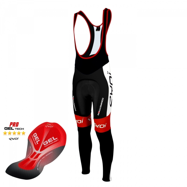 Culotte bike largo EKOI Competition9 Gel negro