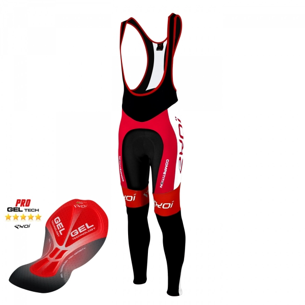 Culotte bike largo EKOI Competition9 Gel rojo