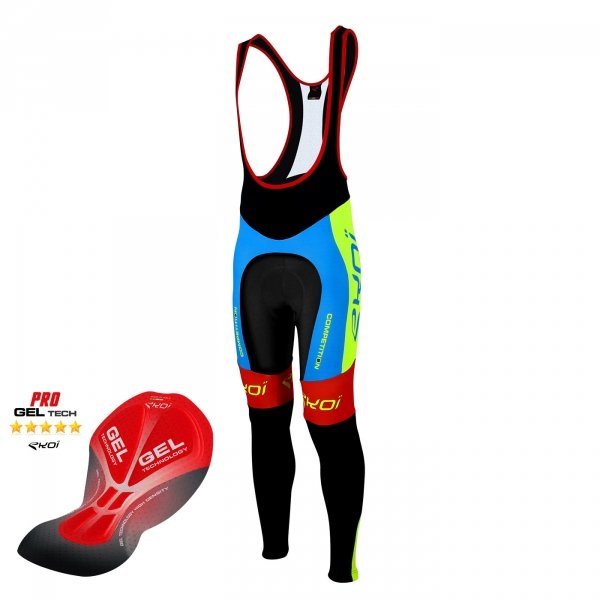 Culotte bike largo EKOI Competition9 Gel azul