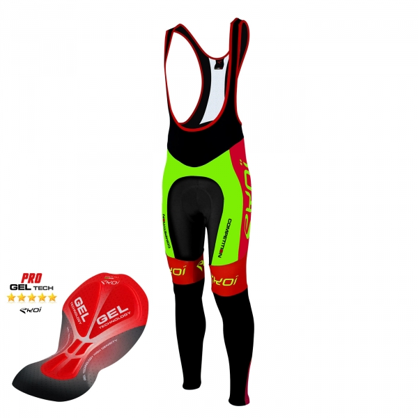 Bib tights EKOI Competition9 Gel Neon green