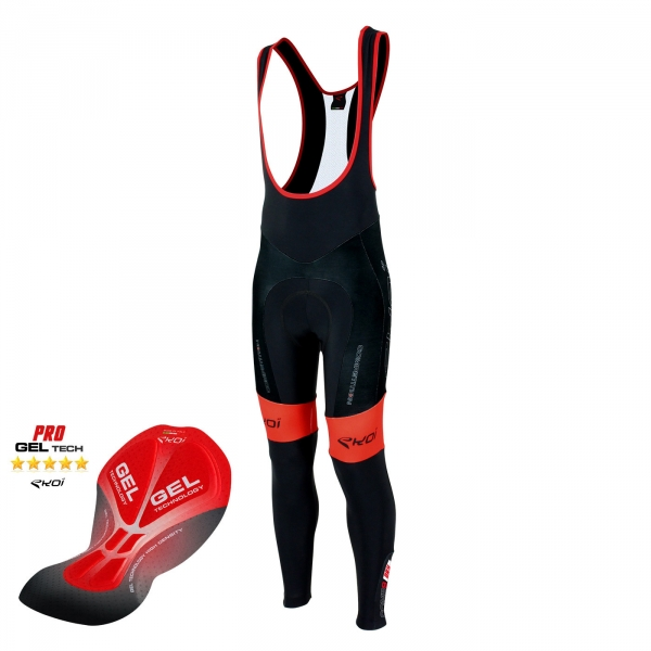 Bib tights EKOI Competition9 Gel Dry full black