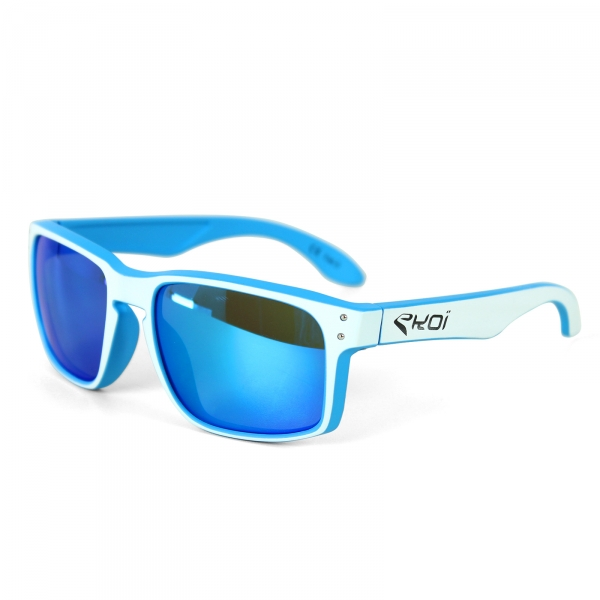 EKOI Lifestyle blue/white frame blue lens podium sunglasses