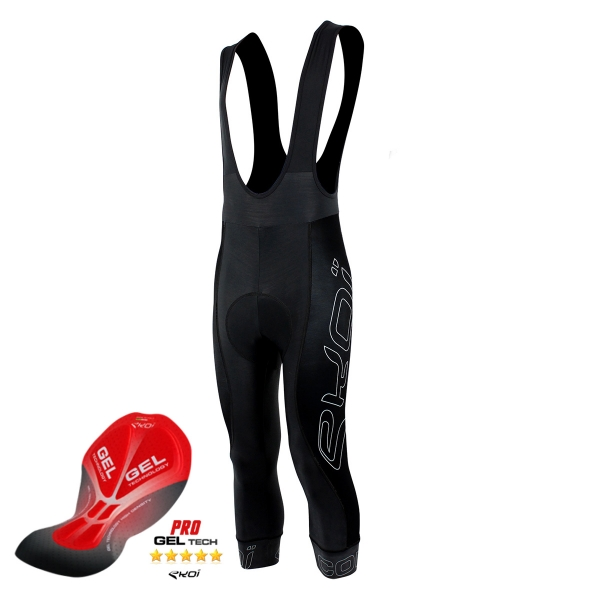 EKOI COMP9 full black GEL 3/4 bib tights