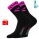 Winter socks EKOI COMP 2016 black neon pink