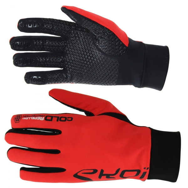 Rękawice zimowe EKOI Cold, kolor czerwony