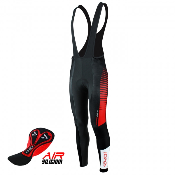 Bib tights EKOI PERFOLINEA 2016 Gel Black /Red