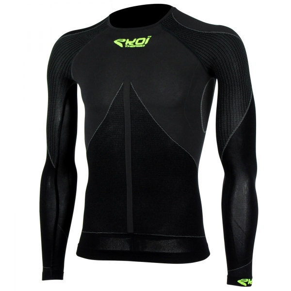 Top EKOI ML TECH 3 Cuello redondo Negro