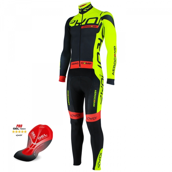 EKOI Aerocomp 2 Dry yellow fluo winter skinsuit