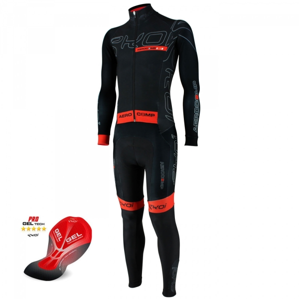 EKOI Aerocomp 2 Dry full black winter skinsuit