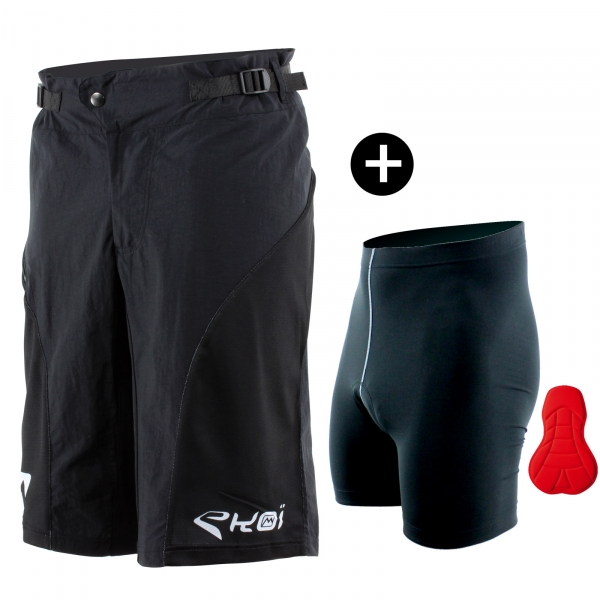 Pack MTB Short et Sous Short Noir