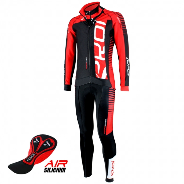 EKOI PERFOLINEA red winter cycling 3-item bundle