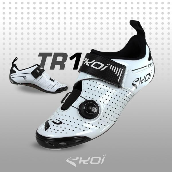 cykelSko Triathlon EKOI TR1 LD Carbone, hvide